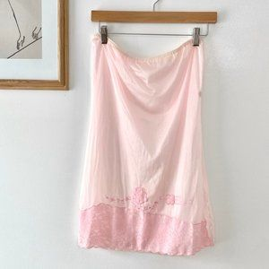 Vintage Lace Embroidered Easy Skirt
